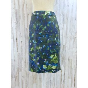 J. Crew #2 Pencil skirt watercolor floral